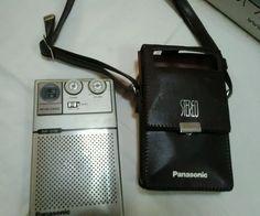 VINTAGE PANASONIC MISTER THIN Am/fm RADIO RF-015 BATTERY OP.  TRANSISTOR W/ CASE   Consumer Electronics, Vintage Electronics, Vintage Audio & Video   eBay!