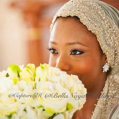 Muslim Muslimah hijab hijabi Nigerian bride. photo by Capture GH. via Bellanaija weddings Instagram.