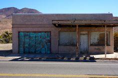 Johannesburg California store front, Mojave Desert