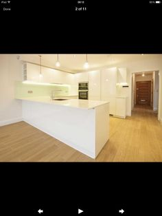 White cupboards with white worktop