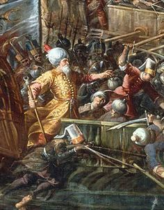 Tattoo Finka Western World Saved from the Moors (Muslims) in Miraculous Battle! Naval battle of Lepanto by Andrea Micheli Military Art, Military History, Conquistador, Sultan Ottoman, Battle Of Lepanto, Fall Of Constantinople, Ottoman Turks, Western World, Samurai