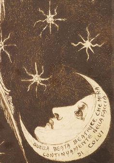 Detail from Dantis Amor - Finished Study, Dante Gabriel Rossetti, 1859-1860