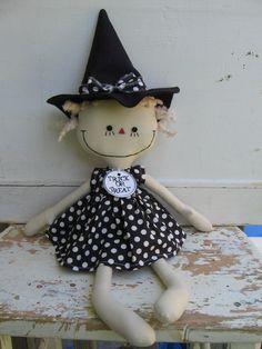 Trick or Treat White Polka Dot Dress, Polka Dots, Button Eyes, Sugar And Spice, Trick Or Treat, Wool Felt, Annie, Doll Clothes, Dolls