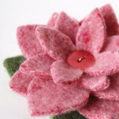 Lambswool Flower, made from reclaimed sweater wool