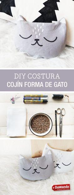 Tutorial DIY - CÓMO HACER UN COJÍN EN FORMA DE GATO en DaWanda.es