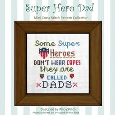 What a great way to honor your father! A simple fun cross stitch project to say I Love You Dad! Stitch it today!