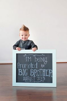 Cute Idea for a Baby Announcement... with help from a big brother