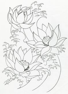 Lotus Flower Drawings For Tattoos Mikes TATTOO Design