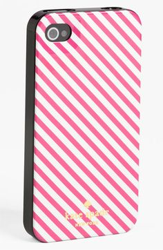 iPhone 5 : Pink Striped Case by Kate Spade