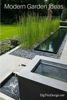 40 Incredible Modern Garden Landscaping Design Ideas On a Budget A modern or contemporary garden is characterized by a sleek, streamlined and sophisticated style. Modern garden designs draw on the simplicity of Asian des Modern Landscape Design, Modern Garden Design, Backyard Garden Design, Modern Backyard, Garden Landscape Design, Modern Landscaping, Contemporary Landscape, Front Yard Landscaping, Landscaping Ideas