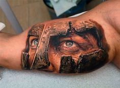 3d Cool Guys Inner Arm Spartan Tattoos