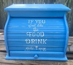 A personal favorite from my Etsy shop https://www.etsy.com/listing/546993075/bread-box-extra-large-sky-blue-with