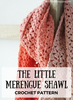 Scheepjes Whirl crochet pattern: The Little Meringue Shawl. Looking for a crochet pattern with Scheepjes Whirl? Make my Little Meringue Shawl | Happy in Red
