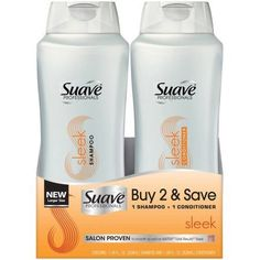 Suave Professionals Sleek Shampoo and Conditioner, 28 oz, Pack of 2