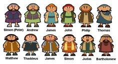 Bible 12 Disciples Set 5 The Twelve Clipart - Free Clip Art Images Sunday School Projects, Sunday School Activities, Sunday School Lessons, Jesus Crafts, Bible Story Crafts, Bible Stories, Preschool Bible, Bible Activities, Church Activities