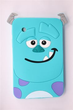 $11.05 (Buy here: http://appdeal.ru/97u9 ) Case For Samsung Galaxy Tab 2 7.0 P3100 P3110 Durable Soft Silicone Tablet Case 3D Cartoon Cute Blue Sulley Pattern Back Covers for just $11.05