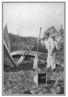 Paddle Making (and other canoe stuff): Outing - Vintage Canoe Camp Pics