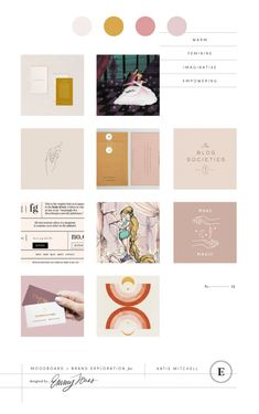Imaginative Copywriter Branding Moodboard and Warm Blush Color Palette — In today's design spotlight I'm sharing my process to craft Katie Mitchel's copywriter branding! I loved creating a Disney inspired branding. Check it out!  #branding #design #moodboards