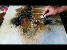 Abstract painting / Abstract landscape 03 / Without using any brush / Demonstration - YouTube