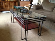 Find and share welding projects for home or work. Welded Furniture, Iron Furniture, Steel Furniture, Custom Furniture, Table Furniture, Furniture Sets, Furniture Design, Iron Coffee Table, Modern Coffee Tables