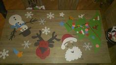 Super vrolijke kersttafel!  Gezield door Claudia uit Wolvega. www.tafelziel.nl