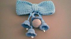 Campanas y chupete a crochet tutorial.