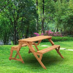 This garden bench converts to a picnic table and bench!#mydreambackyard