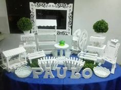 Resultado de imagen para trupan Bar Furniture, Outdoor Furniture Sets, Outdoor Decor, Candy Table, Dessert Table, Cake Holder, Candy Party, Wood Design, Party Planning
