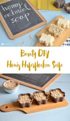 Beauty DIY, Honig Haferfocken Seife mit Scrub Effekt, Scrub Seife DIY zum Selbermachen, Geschenkidee für Freundinnen, Muttertagsgeschenkidee