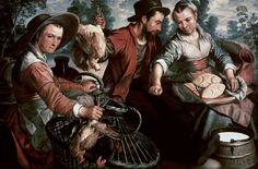 Scène de marché  Author :  Bueckelaer Joachim (vers 1530-vers 1573)