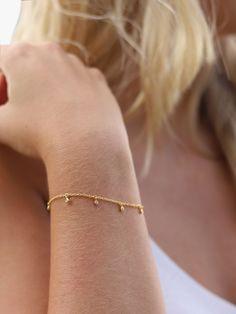 Buy Missoma Gold Vermeil Interstellar Pave Drop Bracelet, Gold from our Women's Bracelets range at John Lewis & Partners. Gold Bracelet For Girl, Silver Bracelets For Women, Dainty Bracelets, Women's Bracelets, Missoma Jewellery, Jewelry Design Earrings, Gold Jewelry Simple, Modern Jewelry, Gold Chain Design