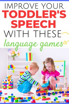 Use these 3 simple language games to boost your toddler's speech development and get your toddler talking! These speech activities are based on the research in phonemic awareness and can have a huge impact on your toddler's speech! This advice is directly Toddler Learning Activities, Speech Therapy Activities, Literacy Activities, Infant Activities, Kids Learning, Preschool Language Activities, Family Activities, Speech Therapy Toddler, Infant Games