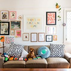 Find incredibly colorful and crafty decor (and two adorable dachshunds!) in this Australian house.