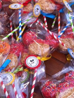 "MICKEY MOUSE 5"" Rice Krispie Treat Pops - ONE Dozen - Great Favors for Disney Mickey Clubhouse Themed Party, Birthday, First Birthday ..etc. on Etsy, $39.95"