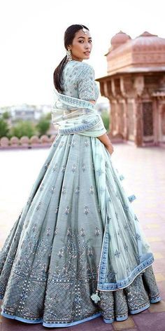 Indian Wedding Dresses: 21 Exciting Fusion Ideas ★ See more: weddingdressesgui… Indian Gowns Dresses, Indian Fashion Dresses, Dress Indian Style, Indian Designer Outfits, Dresses Dresses, India Fashion, Japan Fashion, Party Dresses, Designer Dresses