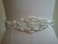 Wedding Belt, Bridal Belt, Sash Belt, Crystal Rhinestone & Pearls - Style B30080 on Etsy, $75.03 AUD