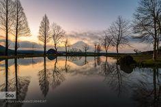 Dawn reflection by HidetoshiKikuchi #photo