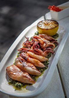 calamari on salsa verde