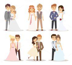 Wedding couple vector @creativework247