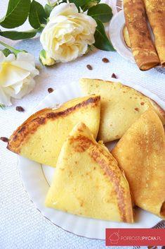 Budyniowe naleśniki zserem Breakfast Snacks, Sweet Breakfast, Pudding, Sweet Tooth, Pancakes, Food And Drink, Cooking, Ethnic Recipes, Pierogi