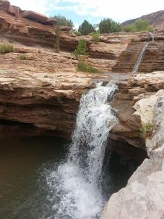 7 great swimming spots - - - Toquerville Falls- just outside Zion NP