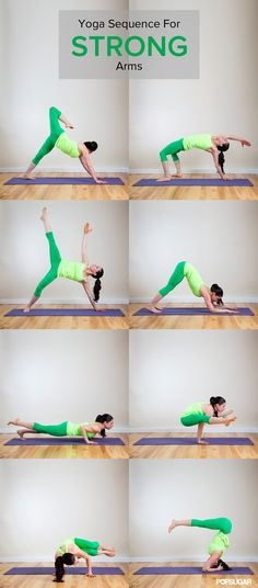 Strong Arms by popsugar #Yoga #Arm_Sequence