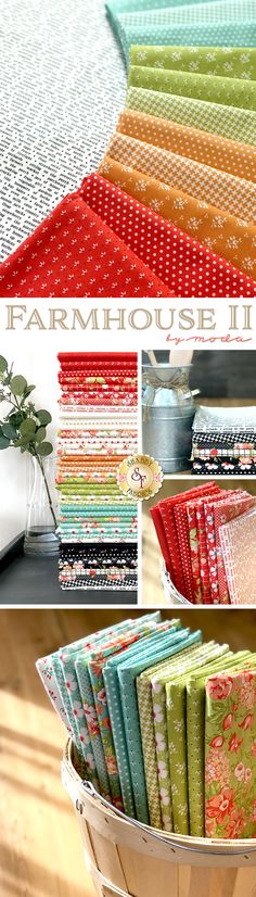 Farmhouse II is a floral collection featuring retro floral prints by Fig Tree & Co. for Moda Fabrics available at Shabby Fabrics Quilt Patterns, Sewing Patterns, Quilting Board, Shabby Fabrics, Fig Tree, Quilt Stitching, Textiles, Sewing Projects, Sewing Ideas