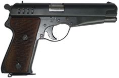 """Walther VP - Volkspistole, 9×19mm Parabellum. 8 round detachable box magazine. The Volkspistole (""""People's Pistol"""") was an emergency German pistol design that was assembled from simple steel pressings with a minimum of machined parts. Only prototypes were produced before the end of World War II."""