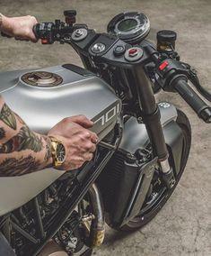 Custom Motorcycles, Custom Bikes, Cars And Motorcycles, Ktm Rc, Motorbike Design, Cafe Racer, Bike Life, Ducati, Motorbikes