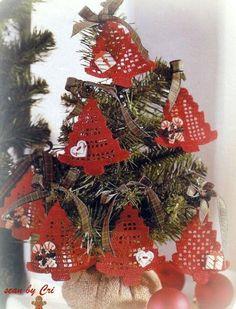Piccoli alberelli di Natale uncinetto - Maglia & Uncinetto