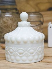 Exactingly patterned after their vintage original, we are proud to offer our White Milk Glass collection. Pressed from original vinta. Vintage Dishware, Vintage Dishes, Vintage Items, Chandeliers, Milk Glass Candy Dish, Fenton Milk Glass, Carnival Glass, Glass Collection, Antique Glass