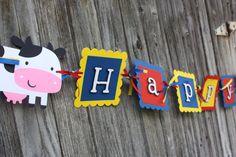 Farm Animals Birthday Banner by yadyscreations on Etsy, $28.00