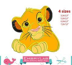 Applique Simba. The Lion King. Machine Embroidery Applique