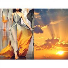 Blog PHOTO & L' ART  • Lyudmila Lane S/S 2012 • & • Orange sunset. Photo by Michael Bieri (pixabay.com) • Dress: www.lyudmila-lane.com #LyudmilaLane All collages by tag ;) ☀ #LiliyaHudyakova